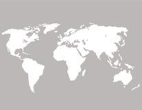 Światowa mapa na szarym tle Ja maluje muśnięciem odosobniony Obraz Stock