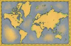 Światowa mapa, ręka rysująca, obrazkowi brushstrokes, geographical mapa ilustracji