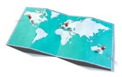 Światowa mapa, ręka rysująca, obrazkowi brushstrokes, geographical mapa royalty ilustracja