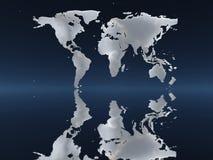Światowa mapa robić chmury royalty ilustracja