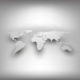 Światowa mapa, sieć związku pojęcie Infographic Fotografia Stock