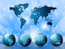 Światowa mapa Wskazuje kartografia krajów I szablon ilustracja wektor