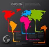 Światowa mapa z pointer ocenami Fotografia Royalty Free