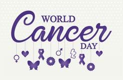 Światowa nowotworu dnia karta lub tło Zdjęcia Stock