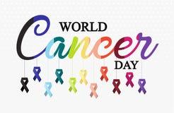 Światowa nowotworu dnia karta lub tło Obrazy Royalty Free