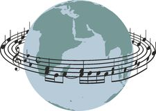 Światowa piosenka Obrazy Stock