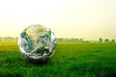 Światowa rękawiczka na polu zdjęcie royalty free