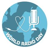 Światowa radiowego dnia pojęcia projekta wektoru ilustracja ilustracji