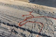 Światowe dziedzictwo skały sztuki Centre Alta muzeum Zdjęcia Stock