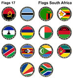 Światowe flaga afryce kanonkop słynnych góry do południowego malowniczego winnicę wiosna Obrazy Stock