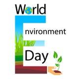 Światowego środowiska dnia teksta sztandaru logo Zdjęcie Stock