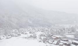 Światowego Dziedzictwa miejsca Shirakawago wioska obrazy stock