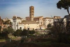 Światowego dziedzictwa miejsce Romański forum Zdjęcie Royalty Free
