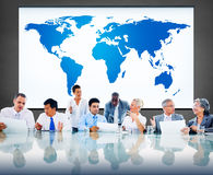 Światowego Globalnego kartografia globalizacja Ziemski zawody międzynarodowi Conce zdjęcia royalty free