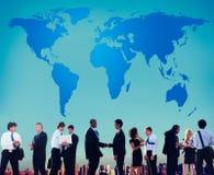 Światowego Globalnego kartografia globalizacja Ziemski zawody międzynarodowi Conce zdjęcie stock