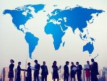 Światowego Globalnego kartografia globalizacja Ziemski zawody międzynarodowi Conce ilustracja wektor