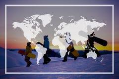 Światowego Globalnego kartografia globalizacja Ziemski zawody międzynarodowi Conce zdjęcie royalty free