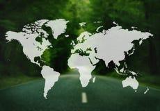Światowego Globalnego kartografia globalizacja Ziemski zawody międzynarodowi Conce ilustracji