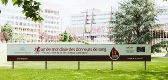 Światowego Krwionośnego dawcy dnia reklamowy sztandar Obrazy Stock