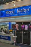 Światowego wzroku cyfrowego wyposażenia satelitarny budka Fotografia Stock