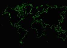 Światowej mapy interneta sieć Obrazy Royalty Free