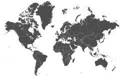 Światowej mapy kraje wektorowi ilustracji