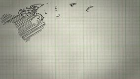 Światowej mapy Rysunkowy tło zbiory wideo