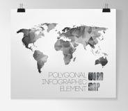 Światowej mapy tło Obraz Stock