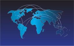 Światowej mapy wektor, InfoGraphic pojęcie, mieszkanie ziemi mapa Dla strony internetowej, sprawozdanie roczne, Światowej mapy il zdjęcia stock