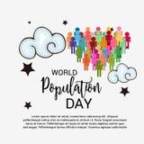 Światowej populaci dzień Zdjęcie Stock