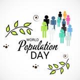 Światowej populaci dzień Obrazy Stock