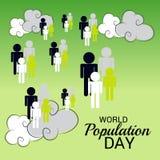 Światowej populaci dzień Fotografia Royalty Free