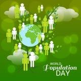 Światowej populaci dzień Obrazy Royalty Free