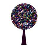 Światowi ludzie drzewni royalty ilustracja