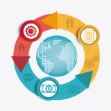 Światowi związki i biznes infographic Obraz Royalty Free