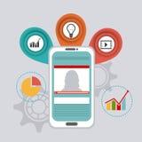 Światowi związki i biznes infographic Zdjęcie Royalty Free