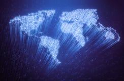 Światowy światłowód fotografia stock