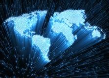 Światowy światłowód zdjęcie stock