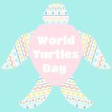 Światowy żółwia dzień Zdjęcia Stock