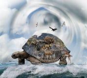 Światowy żółwia pojęcie obrazy stock