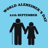Światowy Alzheimer& x27; s dzień Ilustracja Alzheimer& x27; s choroba Fotografia Royalty Free