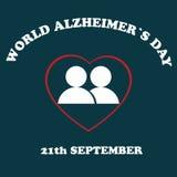Światowy Alzheimer& x27; s dzień Ilustracja Alzheimer& x27; s choroba ilustracji