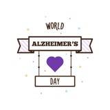 Światowy Alzheimers dzień również zwrócić corel ilustracji wektora Obrazy Stock
