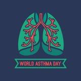 Światowy astma dzień Obraz Stock