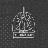Światowy astma dzień Obrazy Stock