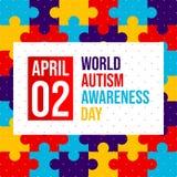 Światowy autyzm świadomości dzień - wektor ilustracji