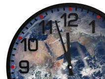 Światowy czasu dzień zagłady 23 57 hrs, elementów ten wizerunek meblujący NASA/ Obrazy Royalty Free