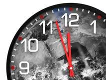 Światowy czasu dzień zagłady 23 57 hrs, elementów ten wizerunek meblujący NASA/ Obrazy Stock