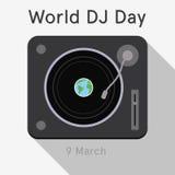 Światowy DJ dzień Fotografia Royalty Free