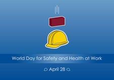 Światowy dzień dla Zbawczego i zdrowie przy pracą Fotografia Stock